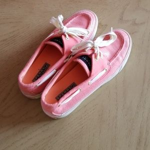 Sperry top- side Bahama pink sequenced shoes 6.5